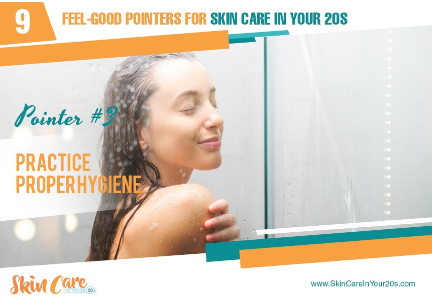 opt for warm baths skin care in your 20s